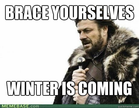 brace yourselves winter is coming - BRACE YOURSELF