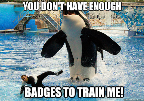 you dont have enough badges to train me  - You dont have enough
