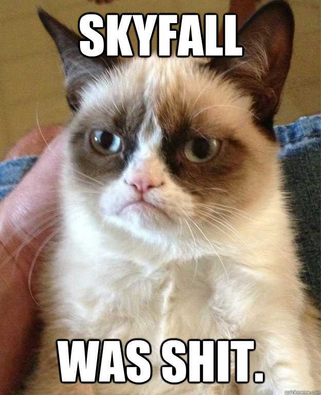 skyfall was shit - Grumpy Cat
