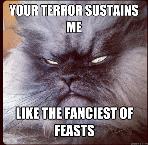 your terror sustains me like the fanciest of feasts - Overlord Cat