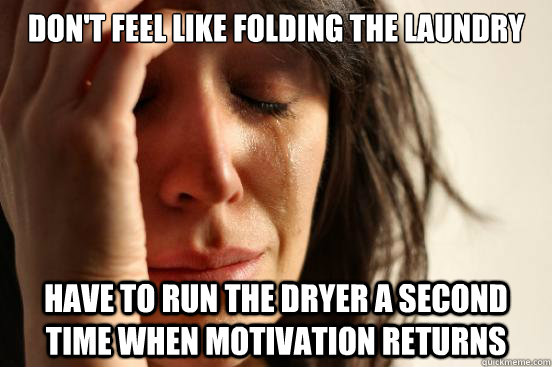 dont feel like folding the laundry have to run the dryer a  - First World Problems