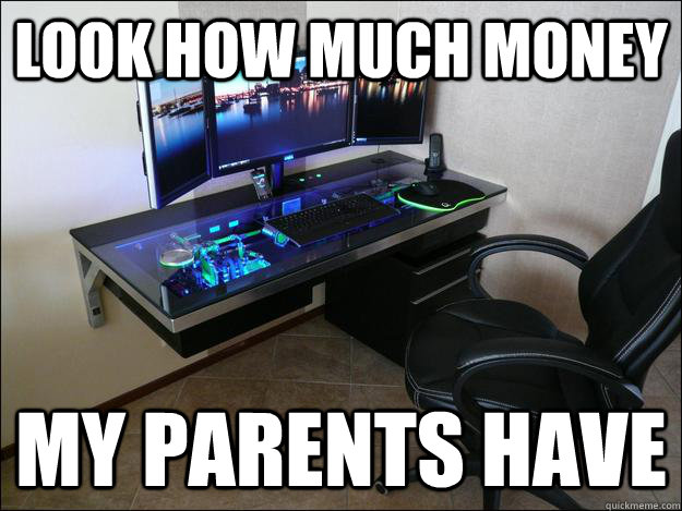 look how much money my parents have - gaming Setup