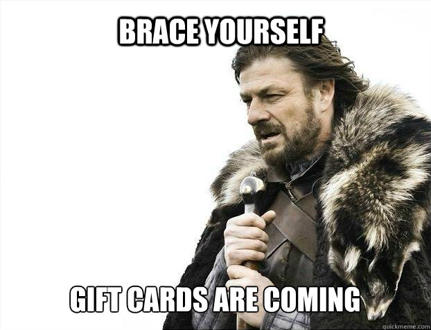 brace yourself gift cards are coming - BRACE YOURSELF SOLO QUEUE
