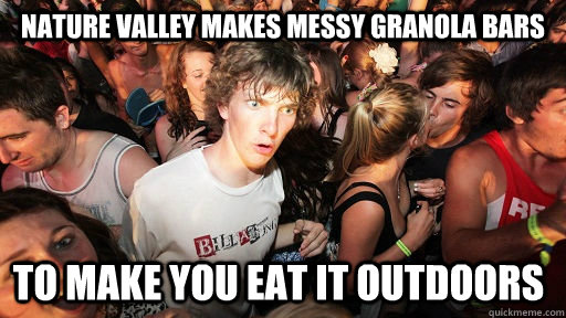 nature valley makes messy granola bars to make you eat it ou - Sudden Clarity Clarence