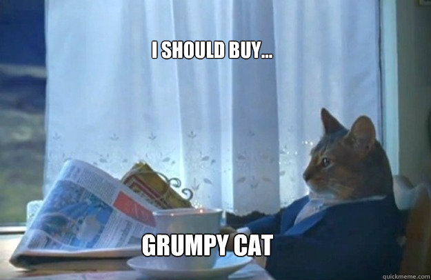 i should buy grumpy cat - Sophisticated Cat