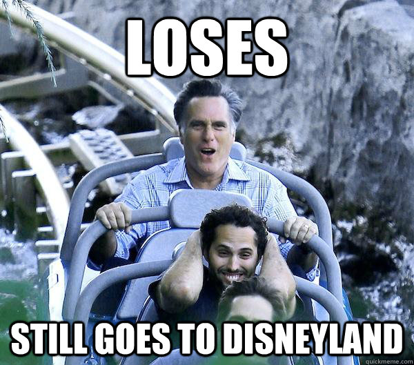 loses still goes to disneyland - Getting Over It Romney