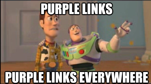 purple links purple links everywhere - Buzz