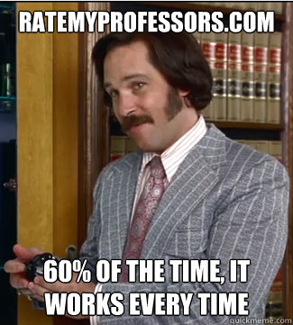ratemyprofessorscom 60 of the time it works every time - Sex Panther
