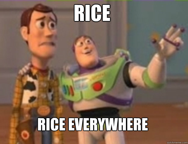 rice rice everywhere - buzz lightyear