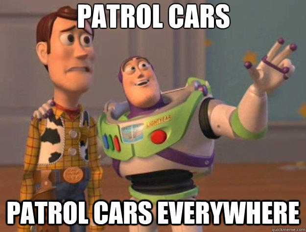 patrol cars patrol cars everywhere - Toy Story