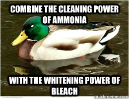 combine the cleaning power of ammonia with the whitening pow -