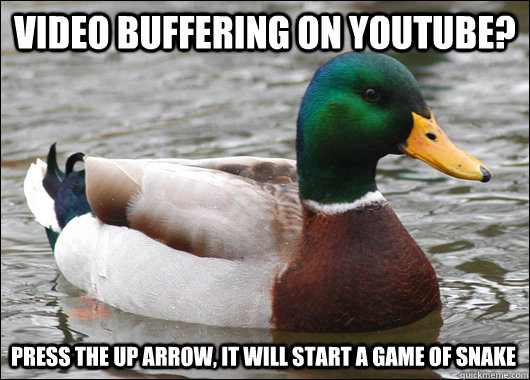 video buffering on youtube press the up arrow it will star - Actual Advice Mallard
