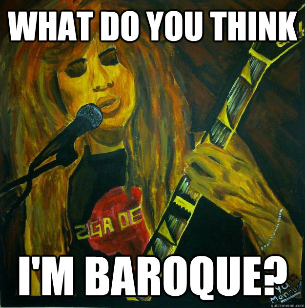 what do you think im baroque - Dave Mustaine Painting