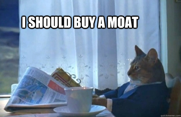 i should buy a moat - Sophisticated Cat