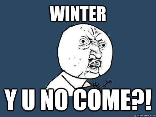 winter y u no come - Y U No