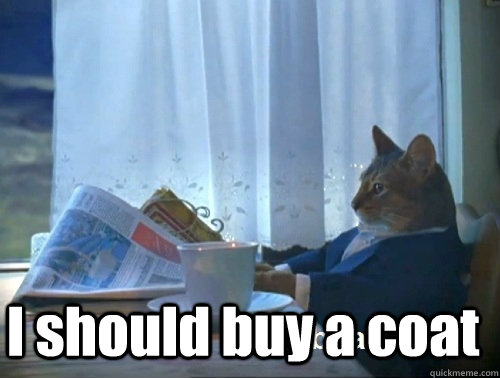 i should buy a coat - Rich cat is rich
