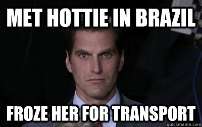 met hottie in brazil froze her for transport - Menacing Josh Romney