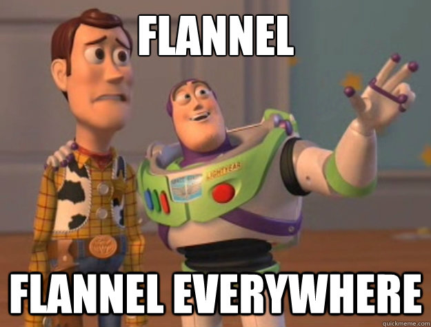 flannel flannel everywhere - Buzz Lightyear