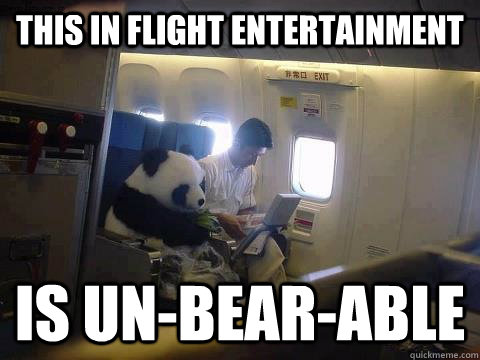 this in flight entertainment is unbearable - Plane Panda