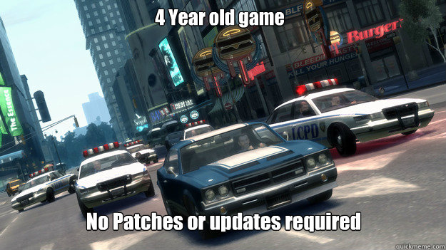 4 year old game no patches or updates required - GTA Logic