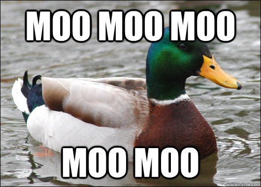 moo moo moo moo moo - Actual Advice Mallard