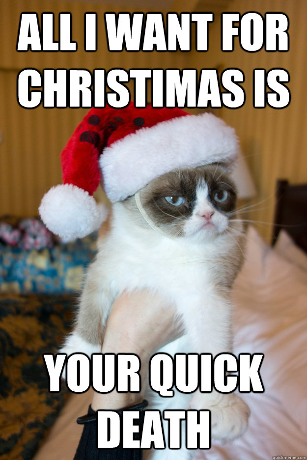 all i want for christimas is your quick death - Grumpy xmas