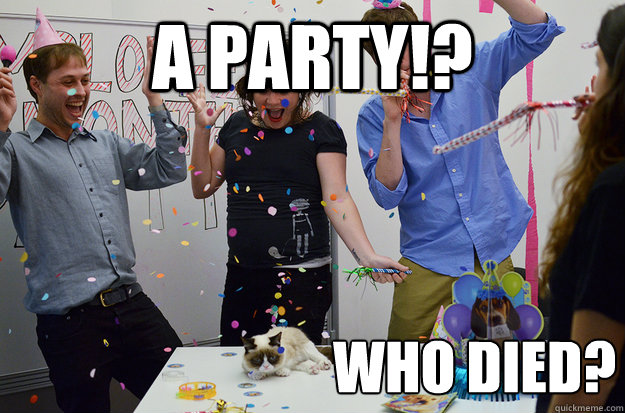 a party who died -