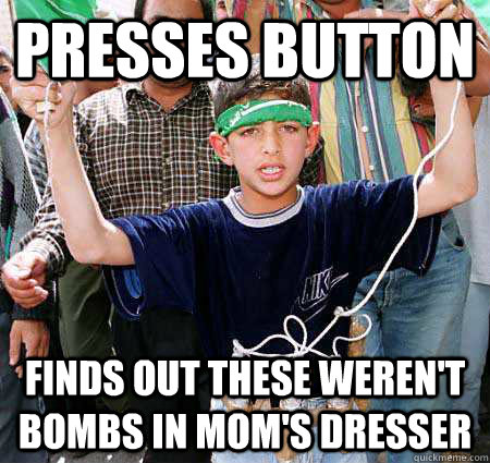 presses button finds out these werent bombs in moms dresse - Bad Luck Bassem