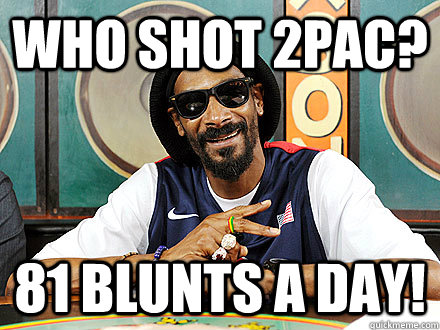 who shot 2pac 81 blunts a day - Snoop Lion