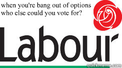 when youre bang out of options who else could you vote for -