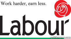 work harder earn less  - 