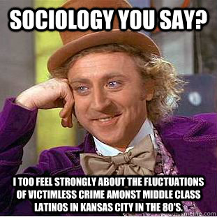 sociology you say i too feel strongly about the fluctuation - Condescending Wonka