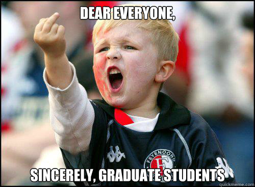 dear everyone sincerely graduate students - Kid Middle FInger