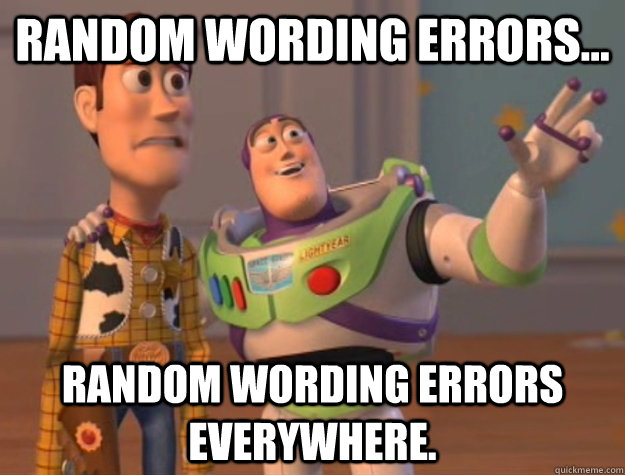 random wording errors random wording errors everywhere - Buzz Lightyear