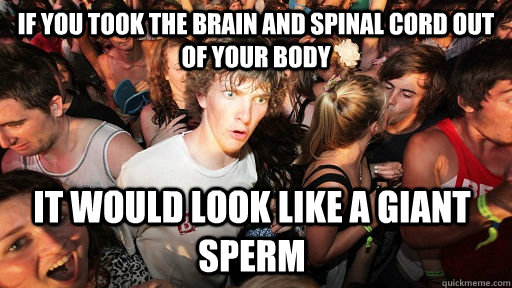 if you took the brain and spinal cord out of your body it wo - Sudden Clarity Clarence
