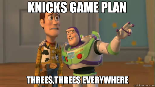 knicks game plan threesthrees everywhere - Everywhere