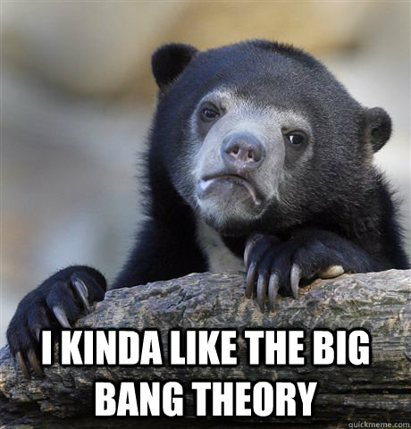 i kinda like the big bang theory - Confession Bear