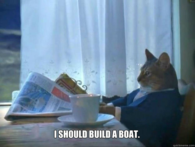 i should build a boat - Average Dad Cat