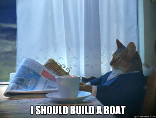 i should build a boat - The One Percent Cat