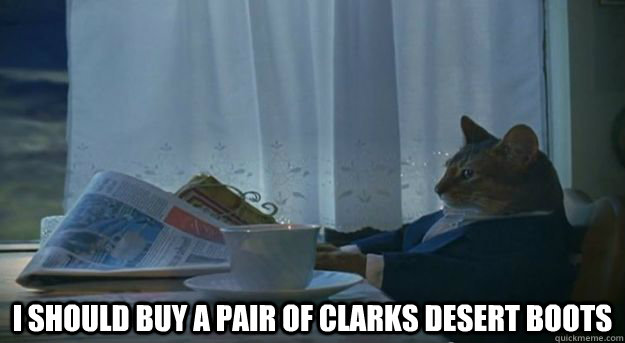 i should buy a pair of clarks desert boots -
