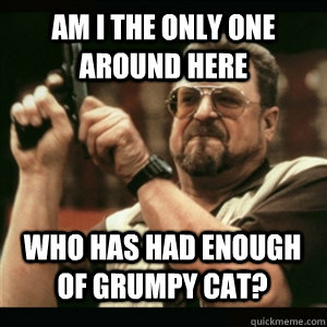 am i the only one around here who has had enough of grumpy c - AM I THE ONLY ONE AROUND HERE