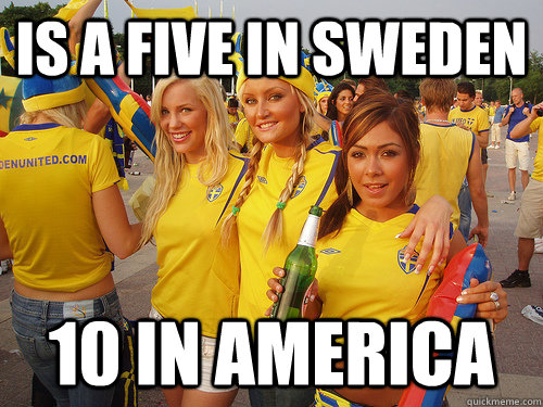 is a five in sweden 10 in america - Successful Exchange studnt