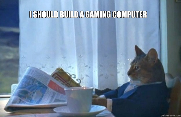 i should build a gaming computer - Sophisticated Cat
