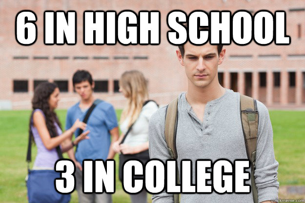 6 in high school 3 in college -