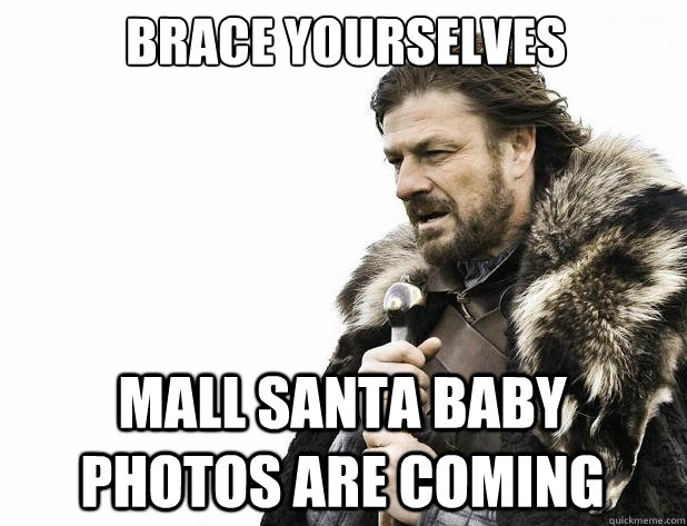 brace yourselves mall santa baby photos are coming - Brace Yourself