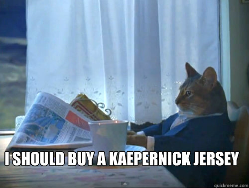 i should buy a kaepernick jersey - The One Percent Cat