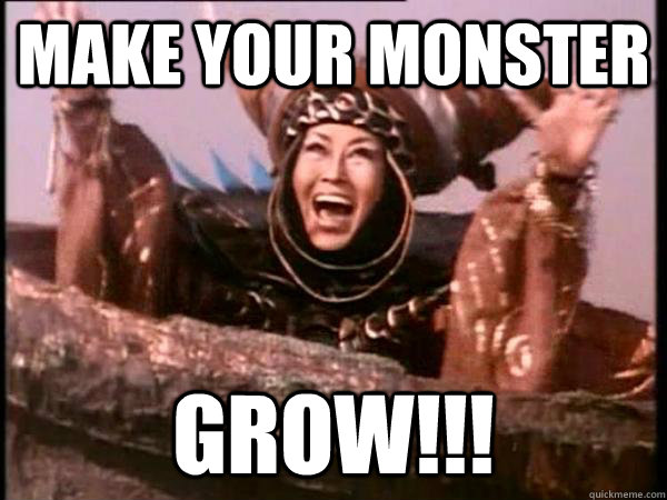 make your monster grow - Excited Rita