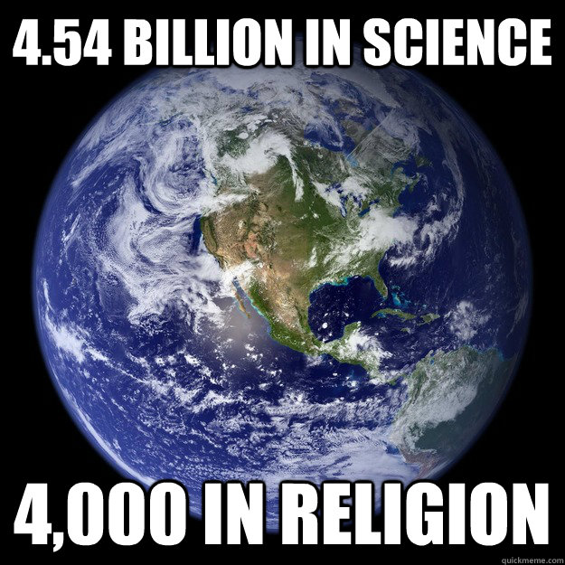 454 billion in science 4000 in religion - Earths Weather