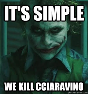 its simple we kill cciaravino - its simple we kill the pope
