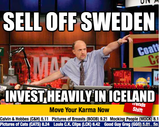 sell off sweden invest heavily in iceland - Mad Karma with Jim Cramer